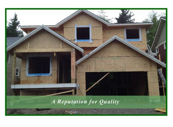 A Reputation for Quality | house being built